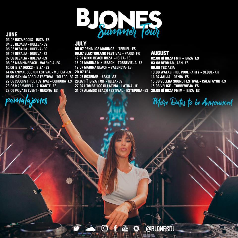 B Jones tour