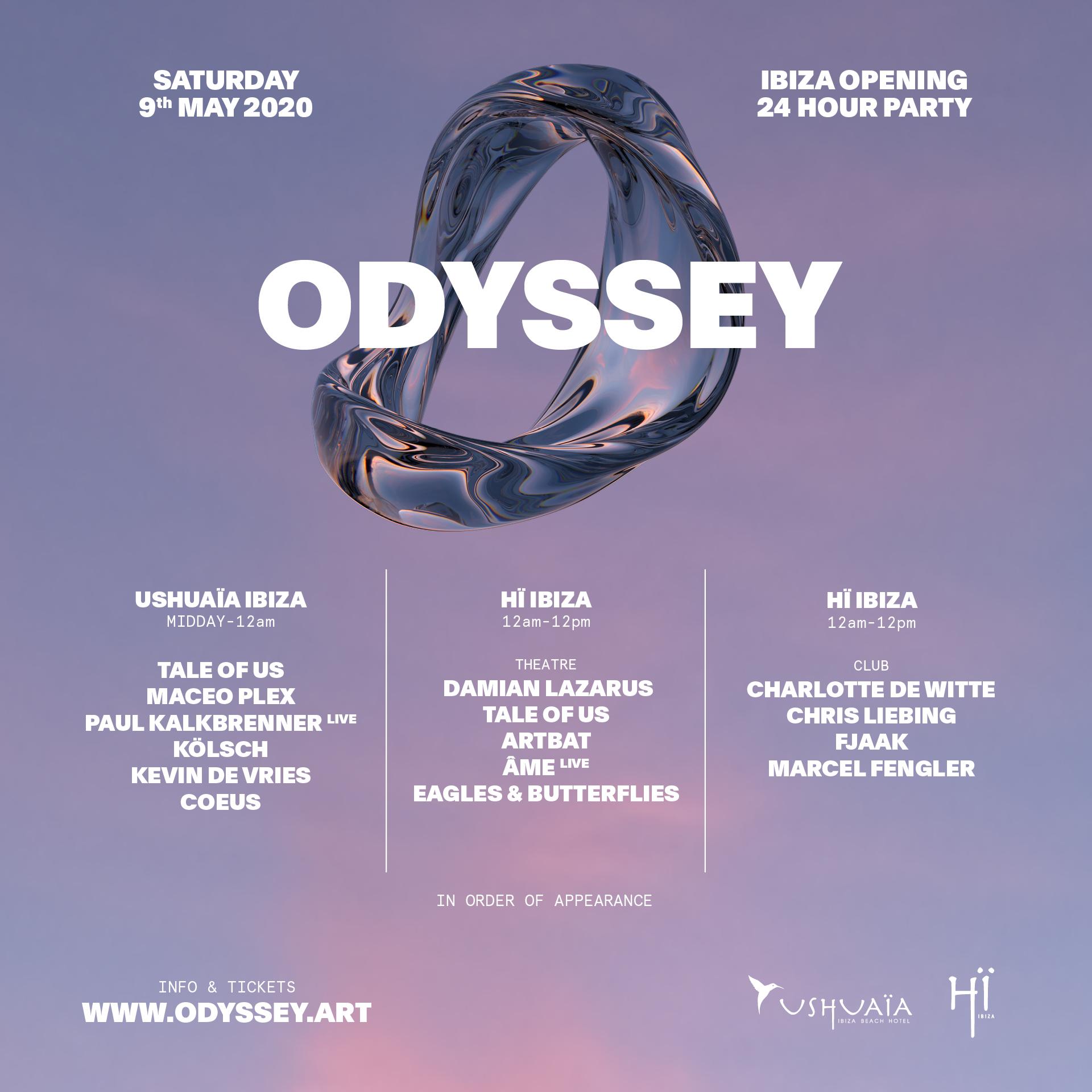 Lineup Odyssey 2020